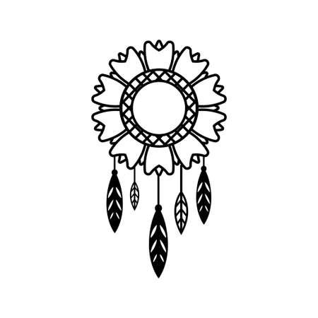 Dream catcher icon design template vector Illusztráció