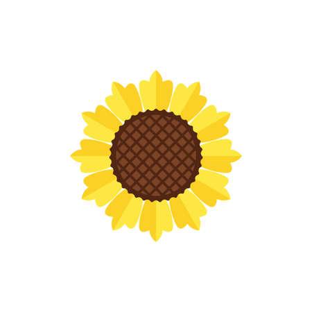 Sunflower icon design template vector Ilustração