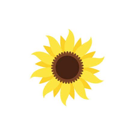 Sunflower icon design template vector 免版税图像 - 167124497