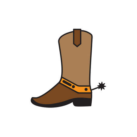 Western boot icon design template vector illustration isolated Vectores