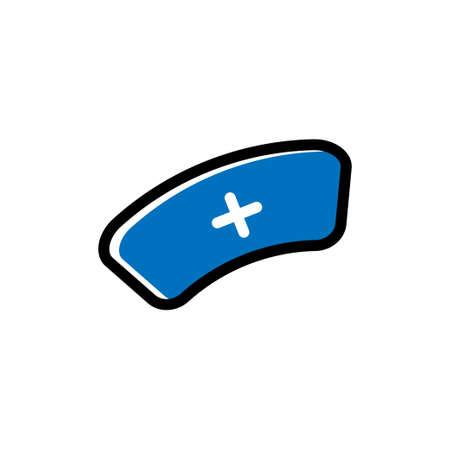 Nurse cap icon design template vector illustration isolated