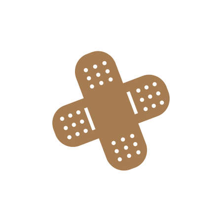 Bandage aid icon design template vector illustration isolated Vectores