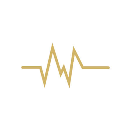 Pulse ekg icon design template vector illustration isolated Vectores