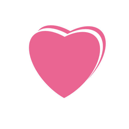 Heart pink icon design template vector illustration isolated Vectores