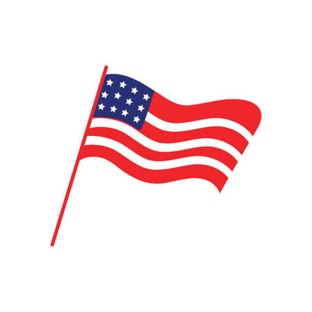 Usa flag icon design template vector isolated illustration Vectores