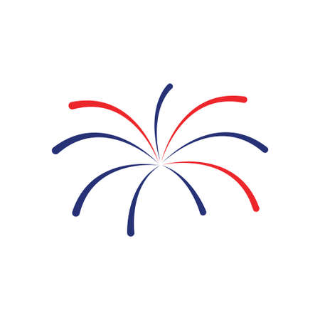 Fireworks icon design template vector isolated illustration Vectores