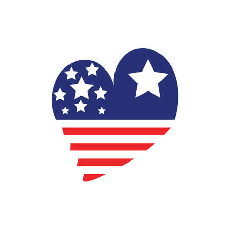 Love usa icon design template vector isolated illustration