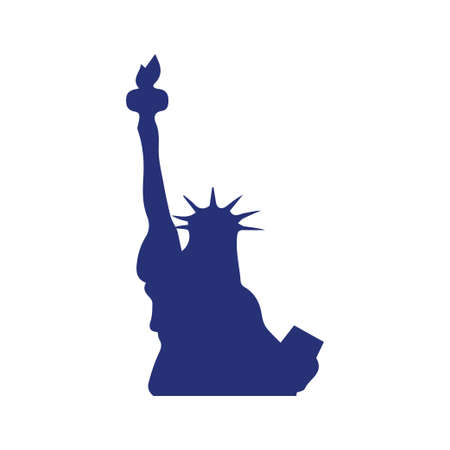 Liberty statue icon design template vector isolated illustration