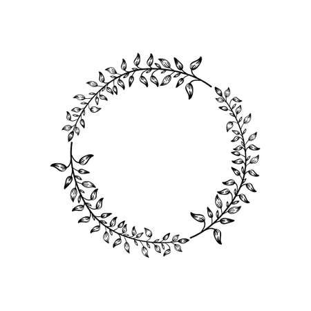 Circle leaf icon design template vector illustration 矢量图像