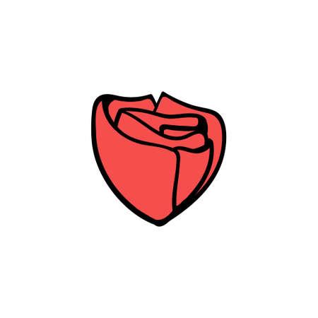 Rose icon design template vector illustration