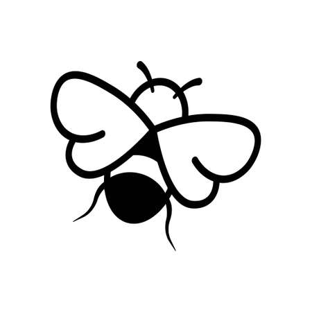 Bee icon design template vector isolated
