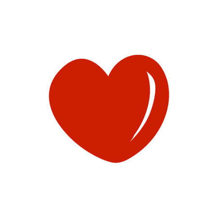 Heart icon design template vector isolated