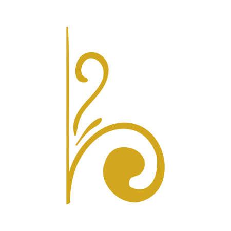 Decoration swirl icon design template vector