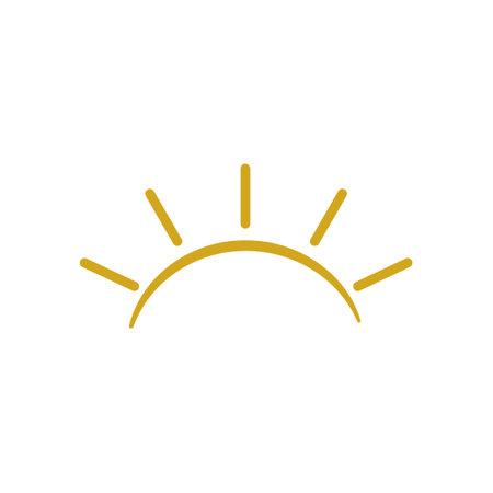 Sunrise icon design template vector isolated