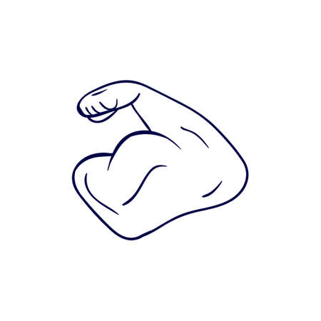 Arm bodybuilder icon design template vector isolated 矢量图像