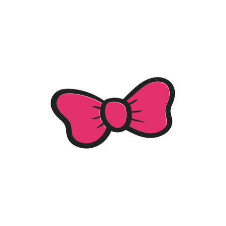 Bow tie icon design template vector isolated illustration