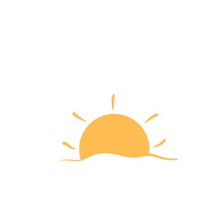 Sun icon design template vector isolated illustration