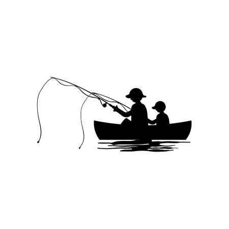 Fishing kayak icon design template vector isolated illustration 矢量图像