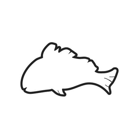 Fish icon design template vector isolated illustration