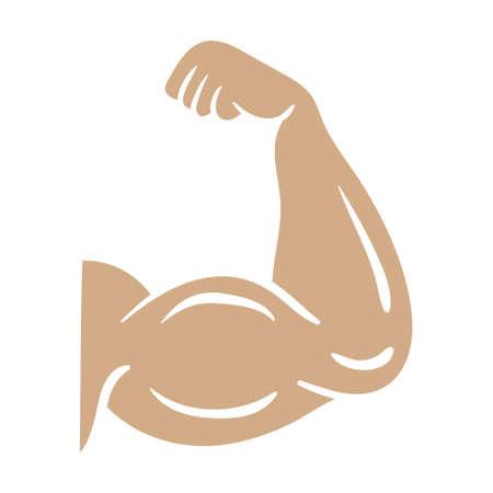 Bodybuilder arm icon design template vector