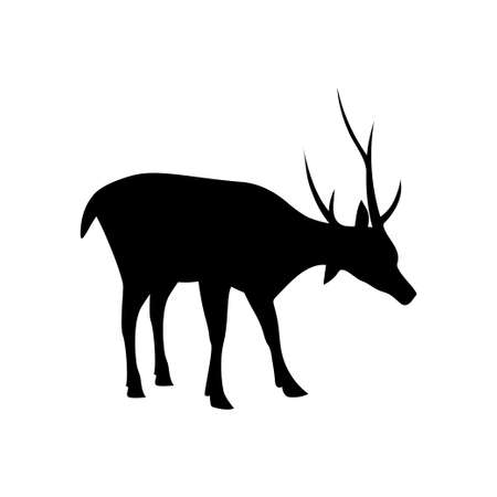 Deer silhouette icon design template vector isolated