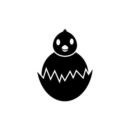 Chick hatch icon design template vector isolated