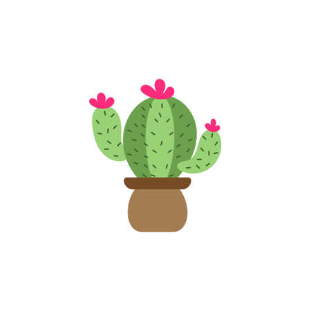 Cactus icon design template vector isolated