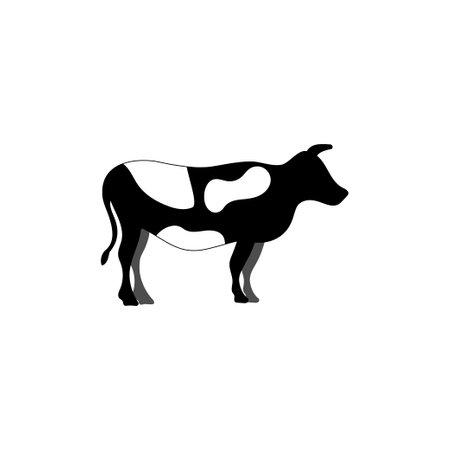 Cow milk icon design template illustration