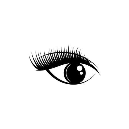 Eye icon design template illustration isolated