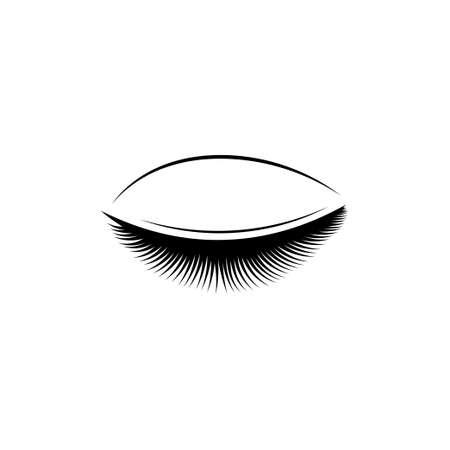 Eyelash icon design template illustration isolated