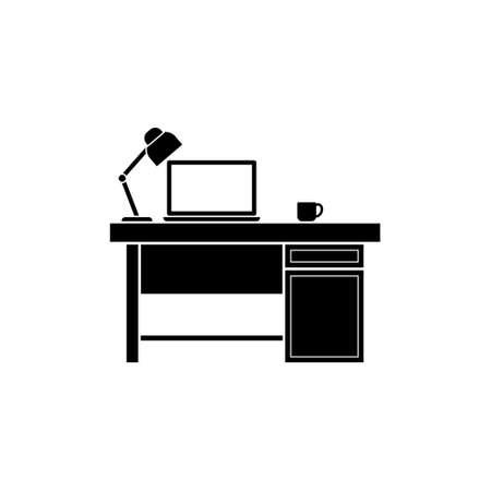 Work desk icon design template isolated illustration Иллюстрация