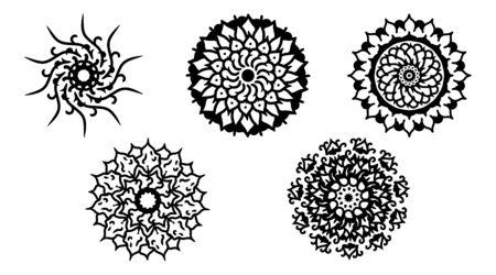 mandala lines of symmetry. Mandala outline of interest. Illusztráció