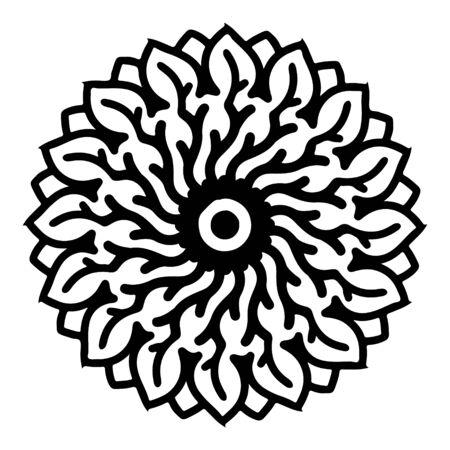 mandala round pattern vintage. logo with doodle tribal. henna indian and arabic motif. Foto de archivo - 143287960