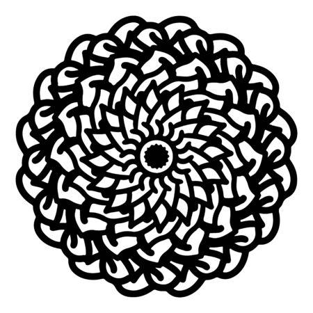 mandala round pattern vintage. logo with doodle tribal. henna indian and arabic motif. Foto de archivo - 143287963