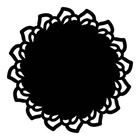 mandala round pattern vintage. logo with doodle tribal. henna indian and arabic motif. Foto de archivo - 143287971