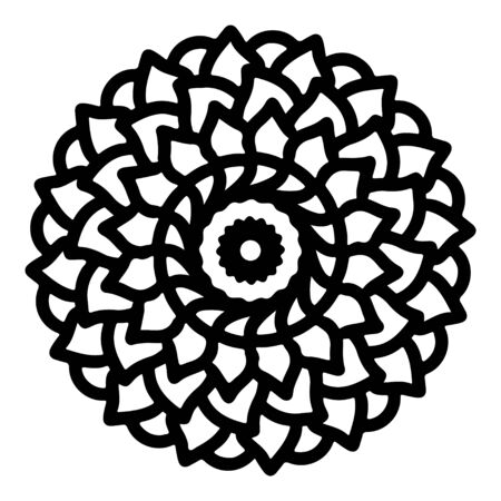 mandala round pattern vintage. logo with doodle tribal. henna indian and arabic motif. Foto de archivo - 143287972