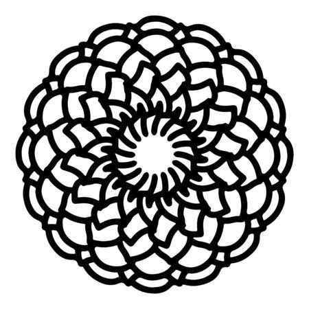 mandala round pattern vintage. logo with doodle tribal. henna indian and arabic motif. Foto de archivo - 143287973