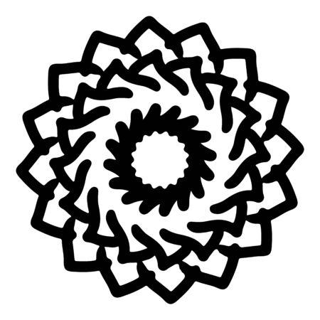 mandala round pattern vintage. logo with doodle tribal. henna indian and arabic motif. Foto de archivo - 143287978