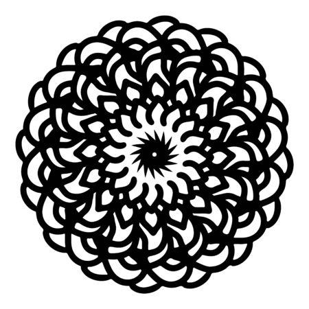 mandala round pattern vintage. logo with doodle tribal. henna indian and arabic motif. Foto de archivo - 143288148