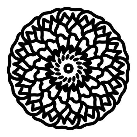 mandala round pattern vintage. logo with doodle tribal. henna indian and arabic motif. Foto de archivo - 143288152