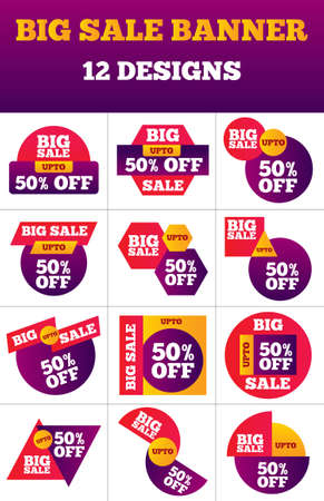 Big Sale banner Offer set