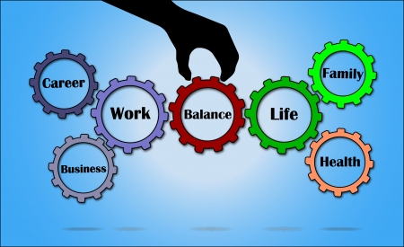 Bringing balance between all aspects of work and life  work life balance Stock Photo - 17479361