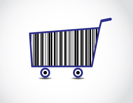 Bar code Shopping Cart Illustration  Stock Illustration - 17613066