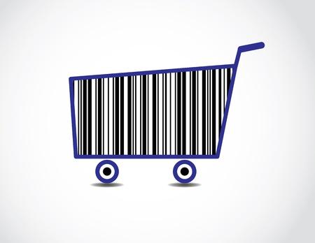 Bar code Shopping Cart Illustration  Stock Illustration - 17613066