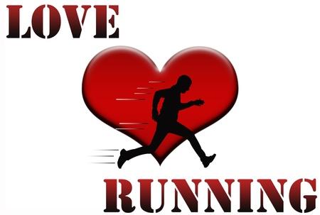 Love running concept illustration