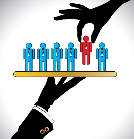 Making the Best Choice or Choosing the best Candidate   Concept Illustration