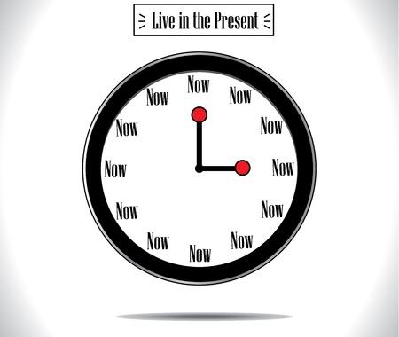 Present Moment concept illustration