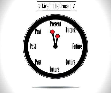 Present Moment concept illustration  Vector