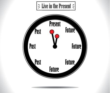 living moment: Present Moment concept illustration