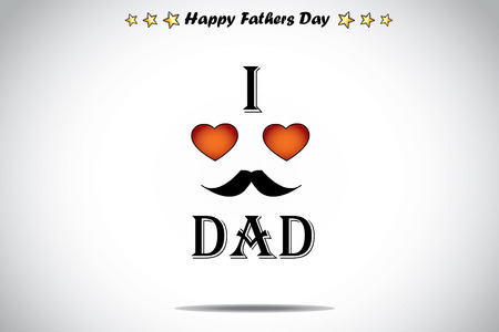 greet eyes: I love dad red love heart abstract fathers day illustration art